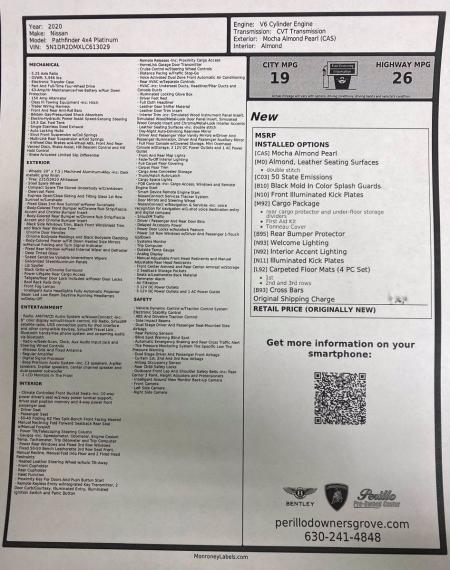 Used 2020 Nissan Pathfinder Platinum | Downers Grove, IL