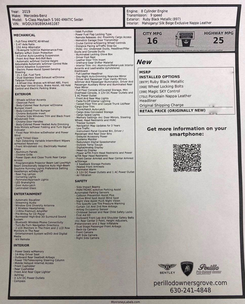 Used 2019 Mercedes-Benz S-Class Maybach S 560 | Downers Grove, IL